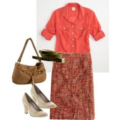 harvest tweed, created by modestly-styled.polyvore.com