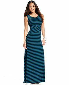 ECI Sleeveless Striped Maxi Dress - Maxi Dresses - Women - Macy's