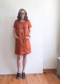 Discover recipes, home ideas, style inspiration and other ideas to try. Uniform Dress, Shirt Dress, Bodice Pattern, Brooklyn Tweed, Fall Sewing, Dressmaking, Lounge Wear, Hemline, Work Wear
