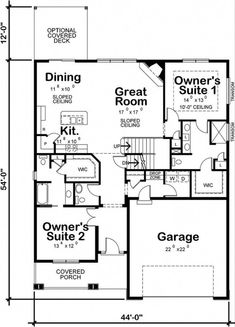 House Plans One Story, House Plans And More, Best House Plans, Small House Plans, House Floor Plans, Open Concept House Plans, Craftsman Style House Plans, Ranch House Plans, Cottage House Plans