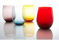 of 4 Venezia Old-Fashioned Glasses on One Kings Lane today Colored Wine Glasses, Kitchen Shop, Kitchen Stuff, Tablecloth Fabric, Shop Till You Drop, Hearth And Home, Kitchen Colors, Home Decor Accessories, Cool Kitchens