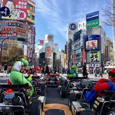Let's play a Cosplay Go-Kart Game on the PUBLIC ROAD in Tokyo . It's amazing that you can have chance to act as your favorite character and race against your friends by cool go-kart . (Ps:international license is needed )! #tokyo #japan #cosplay #go-kart #kart #mario #roppongi #shibuya #shinagawa #race