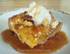 Flour Me With Love: Caramel Apple Bread Pudding
