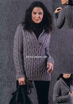 Irish Tweed Pullover - Free Knitting Pattern