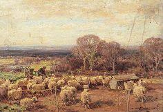 Bowen, Owen, (1873-1967), A Sheepfold, 1919, Oil