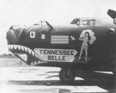 "B-24 Liberator ""Tennessee Belle"" nose art"