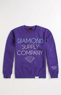Diamond Supply Co Stack Logo Crew Fleece at PacSun.com. Want one sooooo bad.