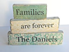 Custom Families are Forever Word Block Set by CROSSyourHEARTau, $20.00