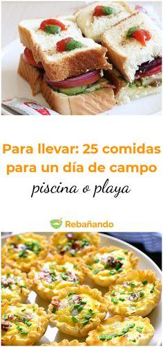 Campo Piscina O Playa 25 Recetas Para Disfrutar Al Aire Libre Comida Para La Playa Comida De Picnic Comida Para Picnic