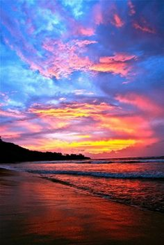 There's nothing like a sunset on the beach!