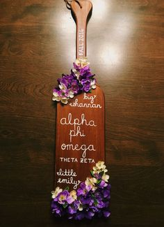 alpha phi omega big little paddle. by emily perry.                                                                                                                                                                                 More