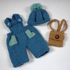 Dungarees for Robert and Rosie Rabbit
