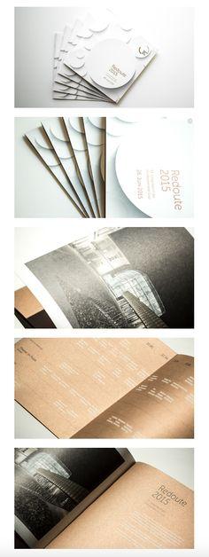 """corporate design und gestaltung des abendprogrammhefts """"redoute 2015"""" für kug – kunst uni graz Corporate Design, Uni, Notebook, Graz, Notebooks, Brand Design, Exercise Book, The Notebook, Brand Identity Design"""