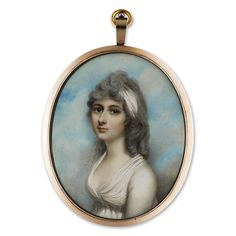 Portrait miniature of a Lady of the Keighley Family, c.1790.  Andrew Plimer (1763-1837)