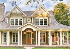 Liking the porch and dormers on this cottage-style home. #cottagehomes www.HomeChannelTV.com