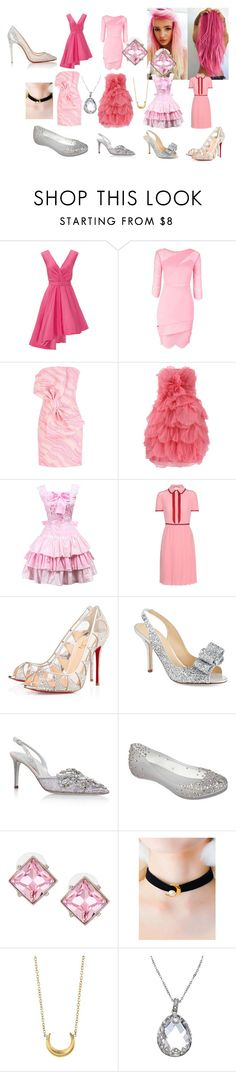 """Modern Chibi-Usa"" by breann-passey on Polyvore featuring Christian V Siriano, Three Floor, Boutique Moschino, Oscar de la Renta, Gucci, Christian Louboutin, Kate Spade, René Caovilla, Melissa and Kenneth Jay Lane"