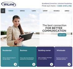 Mockup para WiLine - #WebDesign