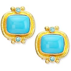 Elizabeth Locke 19k Turquoise Cabochon Clip/Post Earrings ($3,990) ❤ liked on Polyvore featuring jewelry, earrings, turquoise post earrings, cabochon earrings, blue turquoise earrings, elizabeth locke earrings and green turquoise earrings