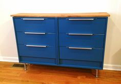 This could be an awesome tv stand/ dresser combo. Hoping it isn't too tall. Seeing Double: Rast Hack - IKEA Hackers