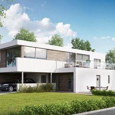 Et av våre kataloghus #urbanhus #U-600 #katalog #hus #bolig #bygge #hjem Går du med en husdrøm i magen? Home Fashion, Home Builders, Modern Architecture, Building A House, Modern Design, House Design, Mansions, House Styles, Contemporary
