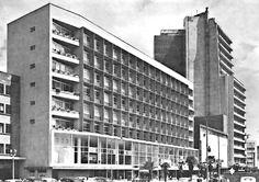 Edificio Comercial y Estacionamiento, Lafragua 9, Tabacalera, Cuauhtémoc, México, DF 1953   Arq. José Villagrán García -  Commericial Buildng and Parking on Lafragua, Tabacalera, Mexico City 1953