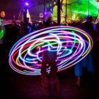 Pro Folding LED Hula Hoop � Collapsible Glow Hoop with Charger and 15 Bright LEDs � Pro Travel Hoop