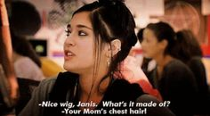 """She was always ready with a comeback. 19 Reasons Janis Ian Was The Best Part Of """"Mean Girls"""" Best Mean Girls Quotes, Mean Girl 3, Good Comebacks, Awesome Comebacks, Favorite Movie Quotes, Favorite Things, Tv Quotes, Girl Day, Great Movies"""