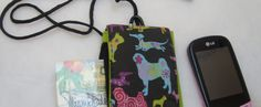 cell phone pouch with DOG fabroic by lil creature:-)