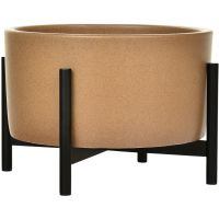 Case Study Table Top Cylinder Planter With Metal Stand