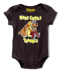 Love this Charcoal 'Here Comes Trouble' Bodysuit by Scooby-Doo on #zulily! #zulilyfinds
