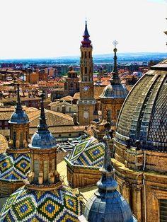 Unique architecture in Zaragoza, Spain #traveltospain #lovespain