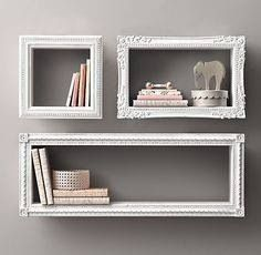 Frames around shelves