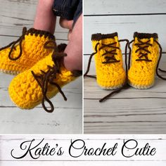 Crochet Steel Toe Boots perfect for a baby !! Crochet creations which make wonderful Baby Shower Gift at amazing prices !! Available in many sizes !! Visit my Etsy shop for more unique Photography Prop !!