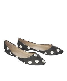 Black & White Kiki Flats