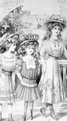 "Sorry mother, I know you always told me, "" if you can't say something nice, don't say anything at all"", but you you did also teach me to tell the truth , and the truth is, these girls look like Edwardian bubbas"