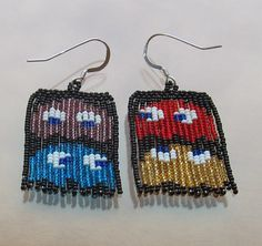 Pac-Man ghosts (smaller shinier beads)