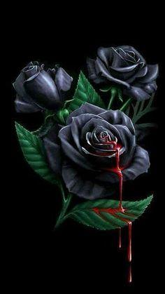 black rose wallpaper for mobile Black Rose Flower, Black Flowers, Purple Roses, Gothic Wallpaper, Flower Wallpaper, Black Roses Wallpaper, Bleeding Rose, Gothic Flowers, Skulls And Roses