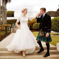Elizabeth Smart and her Scottish husband. It's heartwarming to know that she's overcome the horrific trauma she suffered, and that she is happy and in love. Wishing her years of wedded bliss!