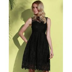 SHARE & Get it FREE | Stylish Round Neck Sleeveless Hollow Out Solid Color Lace Women's DressFor Fashion Lovers only:80,000+ Items·FREE SHIPPING Join Dresslily: Get YOUR $50 NOW!
