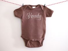 Howdy Country Western Cowboy Shirt Newborn to 3 Months Baby Bodysuit Brown one piece Baby Newborn Outfit Embroidered Baby Shower Baby Gift by BubbleGumDish on Etsy https://www.etsy.com/listing/226882717/howdy-country-western-cowboy-shirt