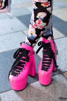 Pink UNIF Platform Shoes // Hirari Ikeda...Someone has major fashion problems...Just sayin