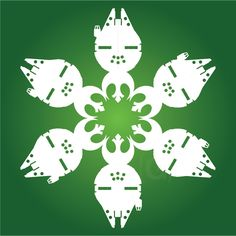 DIY Star Wars Snowflakes - TONS of Star Wars templates!