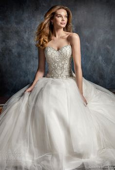 kenneth winston fall 2017 bridal strapless sweetheart neckline heavily embellished beaded bodice princess ball gown a line wedding dress chapel train (52) mv -- Kenneth Winston Couture Wedding Dresses