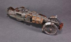 Railbike scale model by Chris Binnett. #dieselpunk #bike