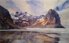 """Björn Bernström Watercolor Artist """"Lofoten"""". My workshop in Lofoten (June 2015) is fully-booked. Is there any interest out there for a Lofoten visit in November 2015? Please inbox me."""