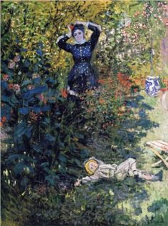 Camille and Jean Monet in the Garden at Argenteuil - Claude Monet