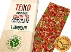 TEIKO -Hand Made Matcha Tea Chocolate- S jahodami