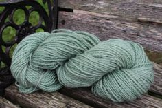 Moss green Lambs wool blend of Border Leister/ by FibahForEwe, $12.00