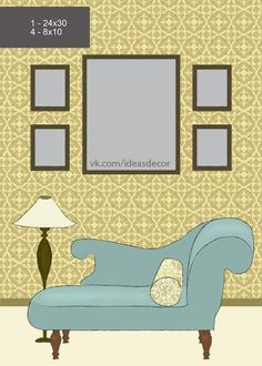 HandMadera: 8 ideas to arrange pictures on the wall