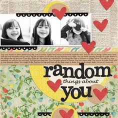 Random Things About You - love the idea of journaling random thoughts